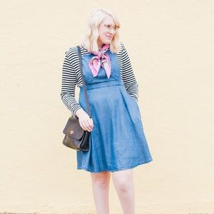 ModCloth Chambray Pinafore Dress